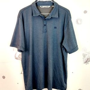 Travis Mathew Mens Large Golf Polo Dark Blue C-75